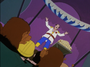 Mudd escaped his punishment on that robot planet and Enterprise catches up with him