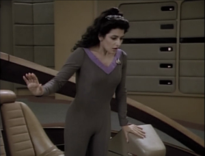 They figure everything out and Troi's powers return