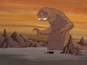 There's a giant rock monster on the planet!