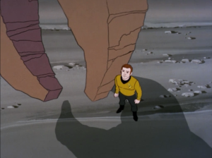 Oh...they actually use the crystals to make one of the monsters fall in love with Kirk. Then the monsters fight each other