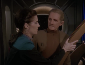 Odo is really pissed because Dax moved his stuff a few inches