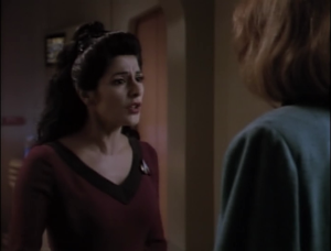 "Troi's attitude gets worse. ""How do you people live like this?"""