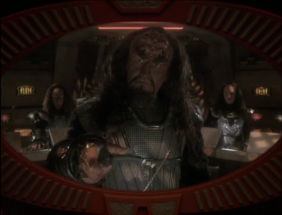 Dukat figures out how to create a false reading from his ship, making it look like they have valuable cargo