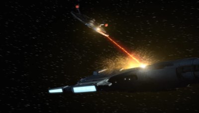 The romulans pretend to be Enterprise and destroy a rigelian ship. The rigelians get pissed aparently, but then the issue disappears. I guess they get over it