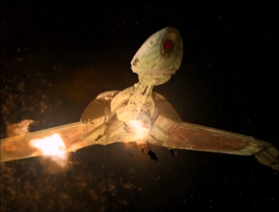 Then when they get closer, Dukat fires on the klingons