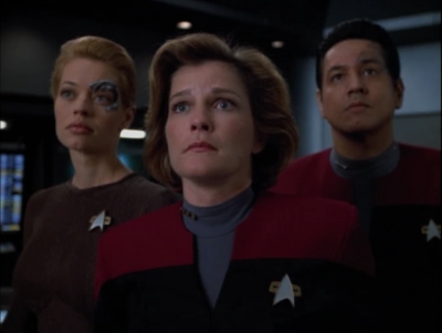 Seven discovers an alien network that reaches to the alpha quadrant