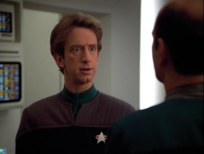 Then he activates the ships EMH, and it's Andy Dick