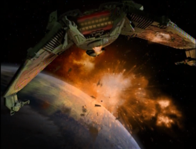 Dukat blows up all the klingons while they're on his ship