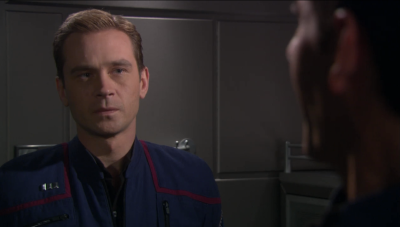 Trip says he wants to be transferred because it's painful for him to work with T'Pol