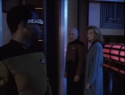 Geordi finds evidence that someone was tampering with the ships clock. Only Data and Geordi  knows how to do that stuff