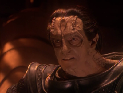 But then the cardassian leadership no longer is interested in fighting the klingons. They instead want to try a diplomatic solution. Dukat says screw that. He's taking the bird of prey and hunting down klingons himself