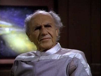 Enterprise gets a distress call from a guy that's on an alien world for some reason. He says that everyone is going crazy because they devil is coming back
