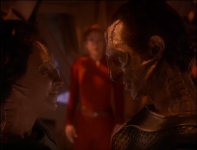 Kira convinces Dukat to let Ziyal live on DS9 with her