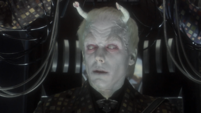 And then they show us the person piloting the romulan ship