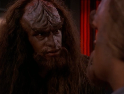 He wants Worf to kill him because that gets him a bit of honor I guess