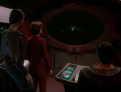 A bird of prey kills an outpost with both bajoran and cardassian diplomats