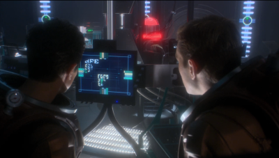 Reed and Trip start screwing with stuff on the romulan ship