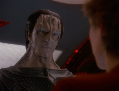 Dukat wants to fight them even though he's completely outgunned. Even when Dukat fires on them, they just leave because Dukat is no threat