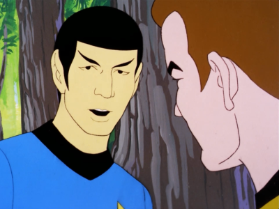 Spock says that the environment is a little too perfect. He suspects terraforming