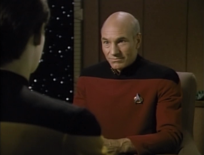 For some reason Picard thinks she's a con-artist, even though they've seen plenty of things powerful enough to do what she claims to have done