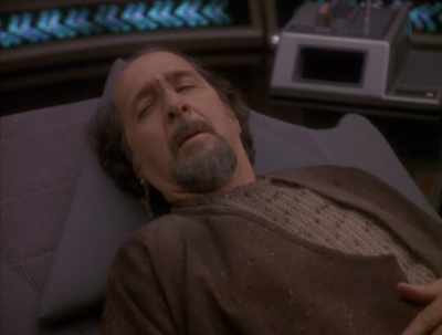 A guy comes through the wormhole and he was in there for 200 years. He says he's the emissary