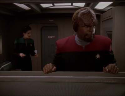 Worf moves into the Defiant