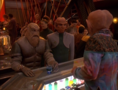 Rom joins the Bajoran repair team