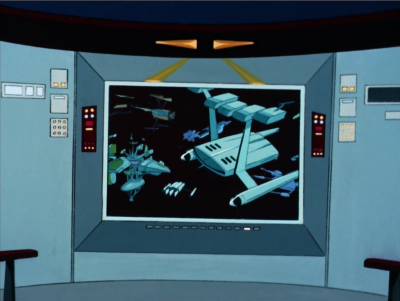 Then Enterprise disappears and is taken to a time pocket in space, where a bunch of ships have been hanging out