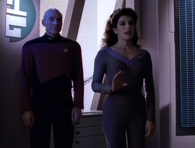 Picard and Troi say hi