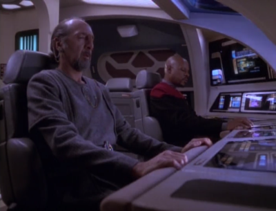 Sisko decides he wants to be emissary again, so they drive to the wormhole to ask the prophets