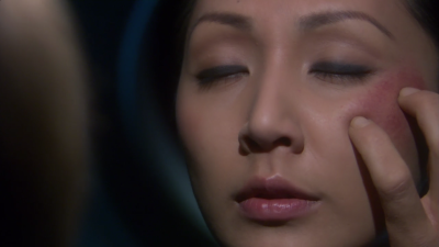 Hoshi needs a mind meld from T'Pol in order to remember what the kidnappers said