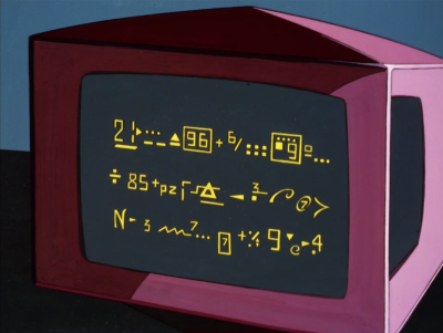 "Spock comes up with a formula to get out of there. Something is being divided by 85 I think. They're not even gonna try with the usual techno-babel? They're just gonna show us some wacky symbols and say ""there. this solves it"""