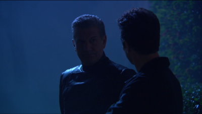 Reed is meeting with a guy that wears black!