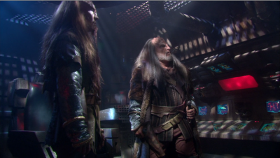 Phlox beams over some virus to the attacking Klingons so they become a little more interested in finding the cure