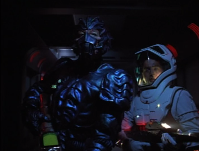 When they corner the 8472 beast, the Hirogen won't stand down, and shoots it until Tuvok stops him