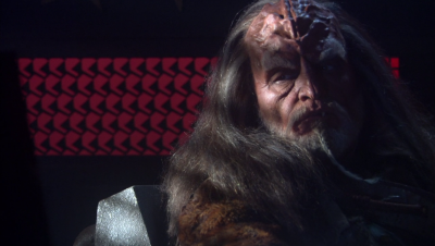 We're introduced to a new Klingon villain. He has a sharp tooth