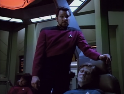 Enterprise finds a stranded ship. Everyone killed each other