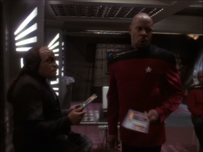 But then Sisko hands him the thing that shows it was staged!