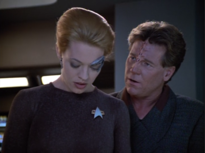 Janeway lets Seven have some more responsibility because she's been behaving
