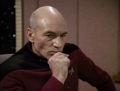 Weird things start happening! Picard hears his doorbell but no one is there, until there is
