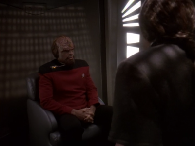 Worf finally takes the stand
