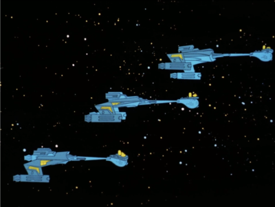 Enterprise is being chased by Klingons, or maybe Romulans