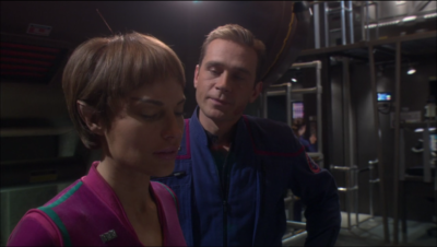 T'Pol's Vulcan physiology makes her immune, and Trip too, cause they're linked or something