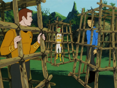 Kirk Kirk and Spock split off to rescue Bem, but they get captured too