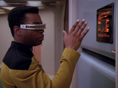Then Geordi gets the shakes