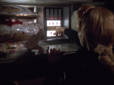 A device that will disable Janeway's mind control is on the holodeck for some reason