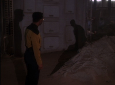 Geordi sees a shadow