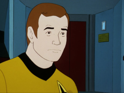 Kirk acts like he's really scared of that crazy space cloud