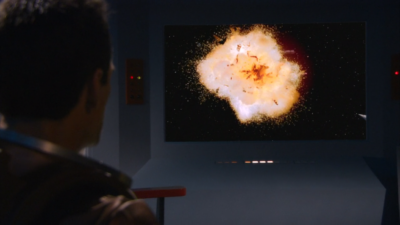 Then the Tholians attack and blow up Enterprise!