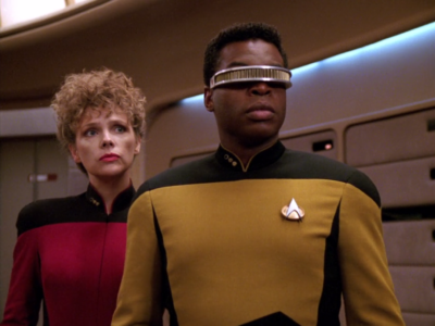 Geordi and his old pal were on the investigation team!